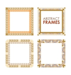 Ethnic frame set vector image