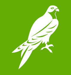 Falcon icon green vector