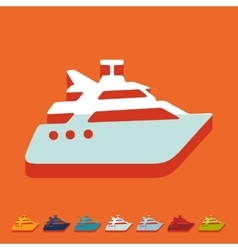 Flat design yacht vector