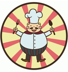 funny cartoon cook vector image