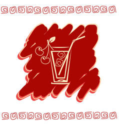 glass of juice icon vector image vector image