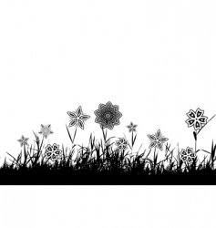 grass silhouette black vector image