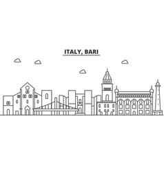 Italy bari architecture line skyline vector