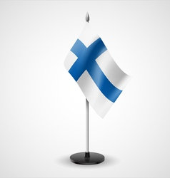 Table flag of finland vector