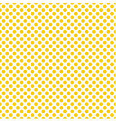Tile pattern with yellow polka dots on white backg vector