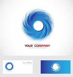 Whirlpool swirl blue logo vector