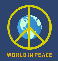 world in peace globe vector image