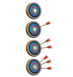 arrow target game vector image