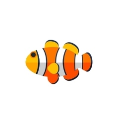 Clown fish primitive style childish sticker vector