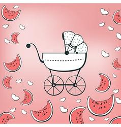 pink pram vector image