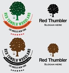 Oak Tree Logo vector image