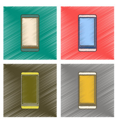 Assembly flat shading style icon mobile phone vector