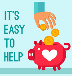 Charity donation poster vector