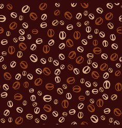 Background with coffee beans coffee print vector