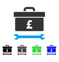 Pound toolbox flat icon vector