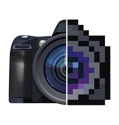 Digital single-lens reflex camera vector