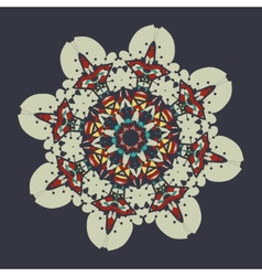 Colorful mandala over gray background vintage vector