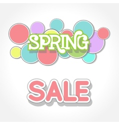 Spring sale design vector