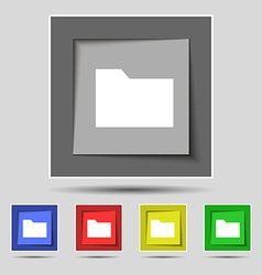 Document folder icon sign on the original five vector