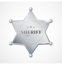 Silver sheriff badge star vector