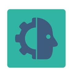 Cyborg icon vector