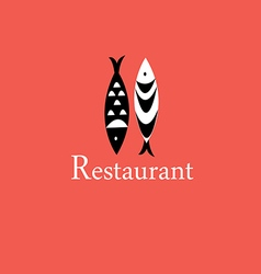 Icon with a fish restaurant vector