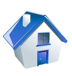 Glossy house icon vector