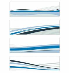 Abstract blue banners vector
