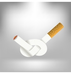 Single cigarette knotted vector