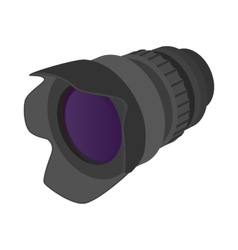 Camera zoom lens icon cartoon style vector