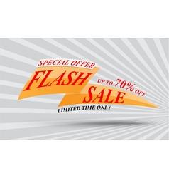 Flash sale banner design vector