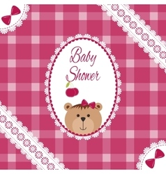 Baby girl arrival shower greeting announcement vector