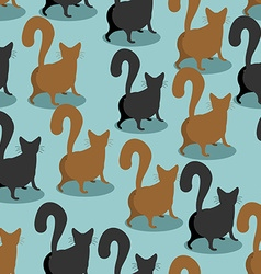 Back cat seamless pattern pets background animal vector