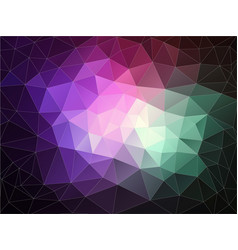 bright color background with triangle shapes vector image vector image
