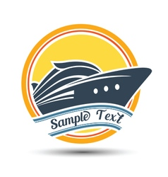 cruise label vector image