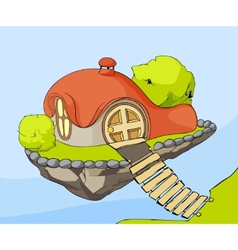 cute house in air vector image vector image