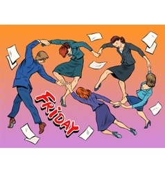 Dance in the office Friday holiday joy business vector image vector image