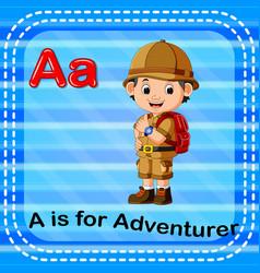 flashcard letter a is for adventurer vector image