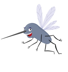 Funny Mosquito vector image