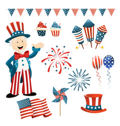 independence day collection vector image vector image