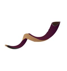isolated shofar vector image vector image