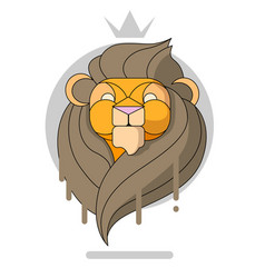 King lion head vector