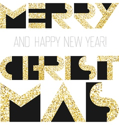 Merry Christmas gold cover design vector image vector image