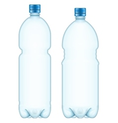 Plastic bottles eps 10 vector