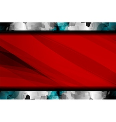 Polygon abstract red background vector