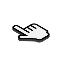 Put cursor icon isometric 3d style vector image
