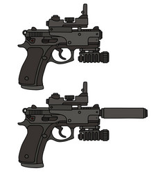 Recent automatic handguns vector