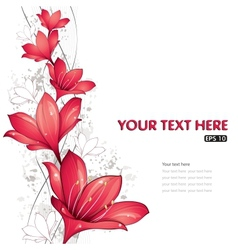 red lilies design vector image