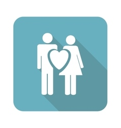 Square love couple icon vector image