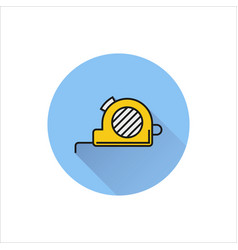 tape measure icon on white background vector image vector image